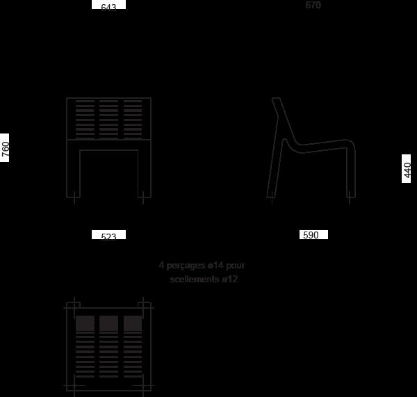 Plan Chaise AZIMUT